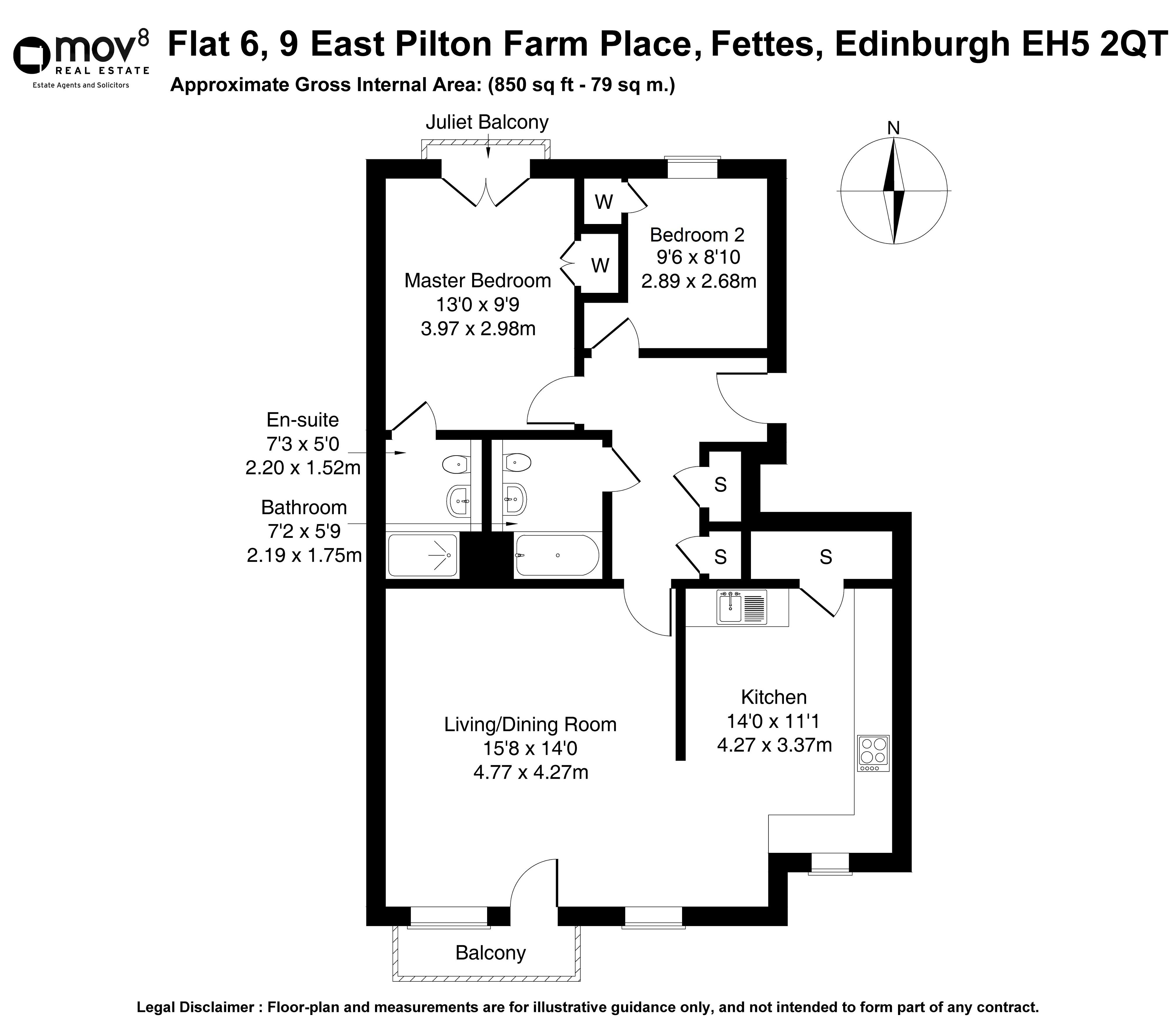 Floorplan 1 of Flat 6, 9 East Pilton Farm Place, Fettes, Edinburgh, EH5 2QT