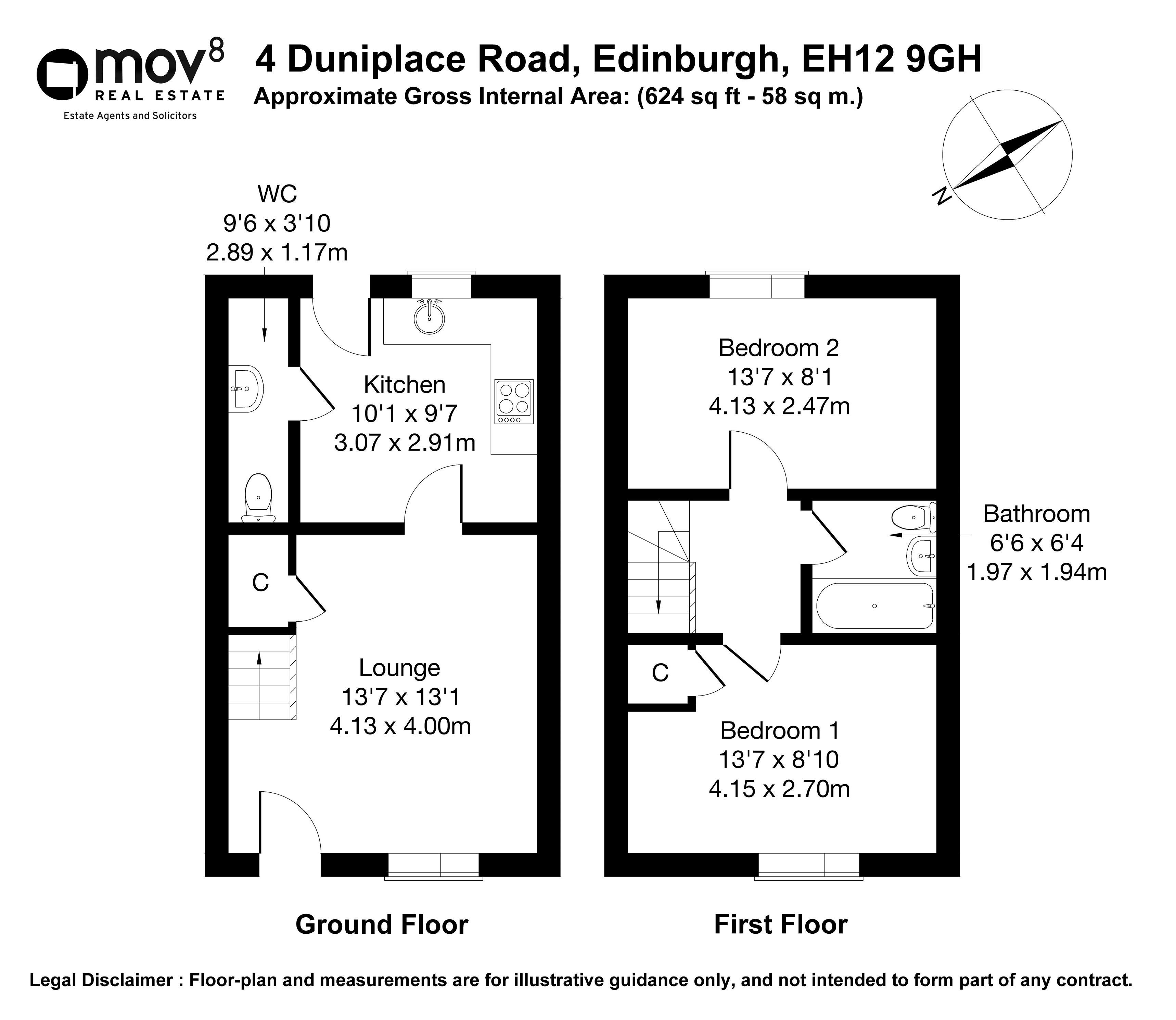 Floorplan 1 of 4 Dunipace Road, South Gyle, Edinburgh, EH12 9GH