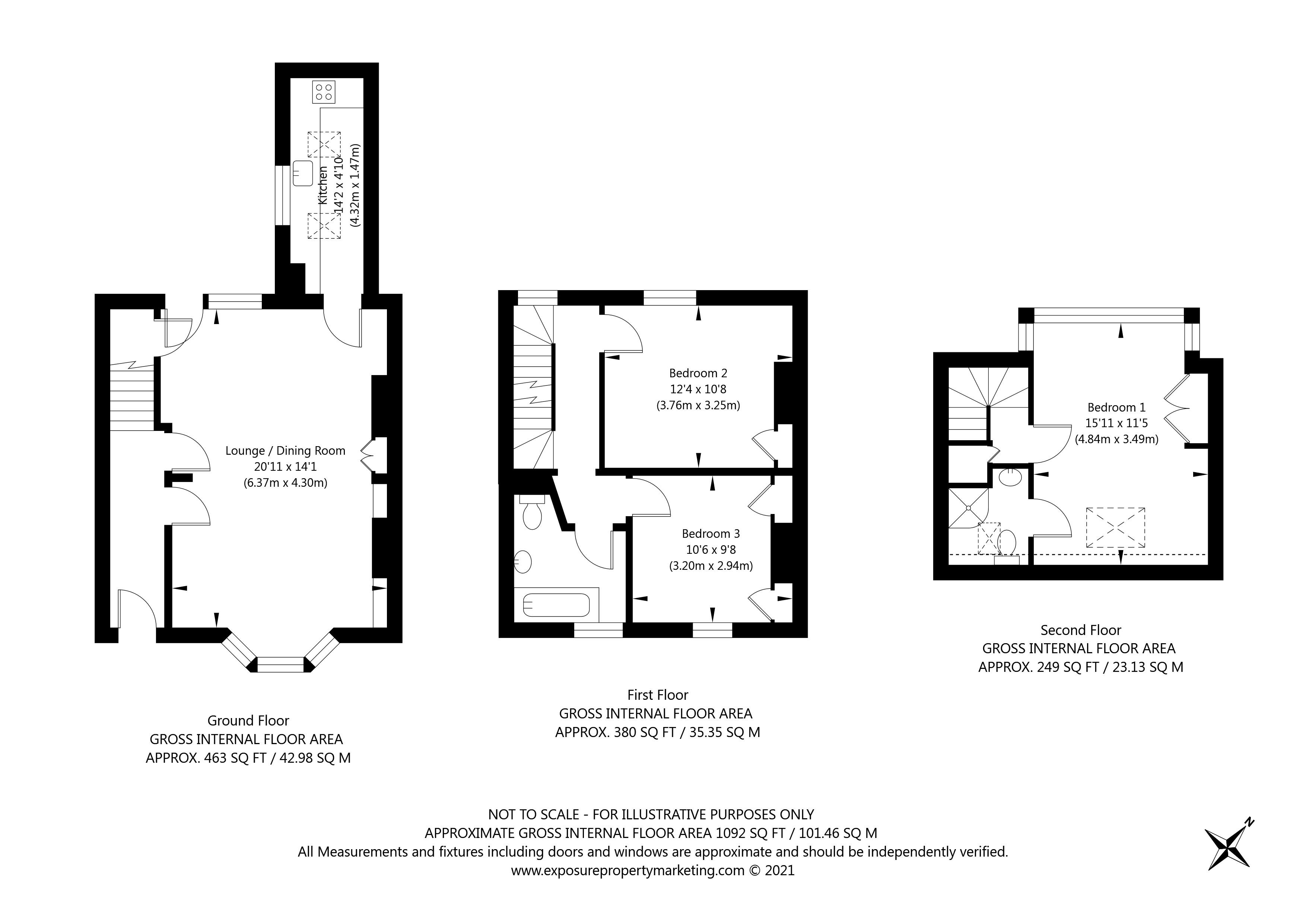 St Johns Street, York property floorplan