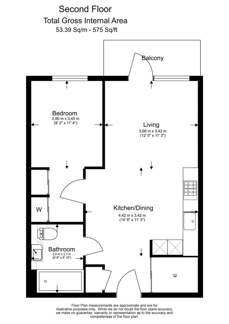 1 bedroom(s) apartment to sale in Fairfax House, Fulham Reach , Hammersmith-Floorplan