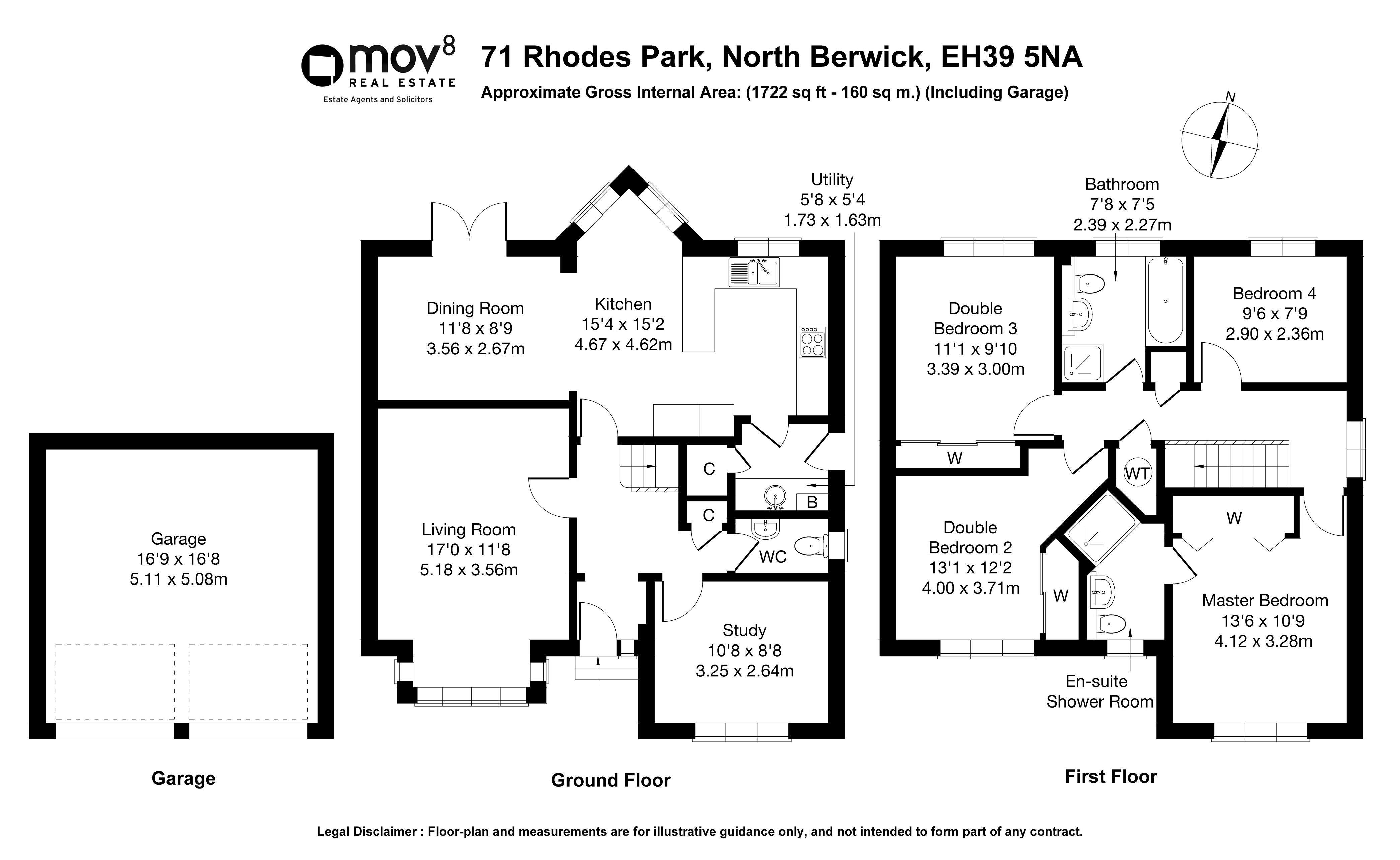 Floorplan 1 of 71 Rhodes Park, North Berwick, East Lothian, EH39 5NA