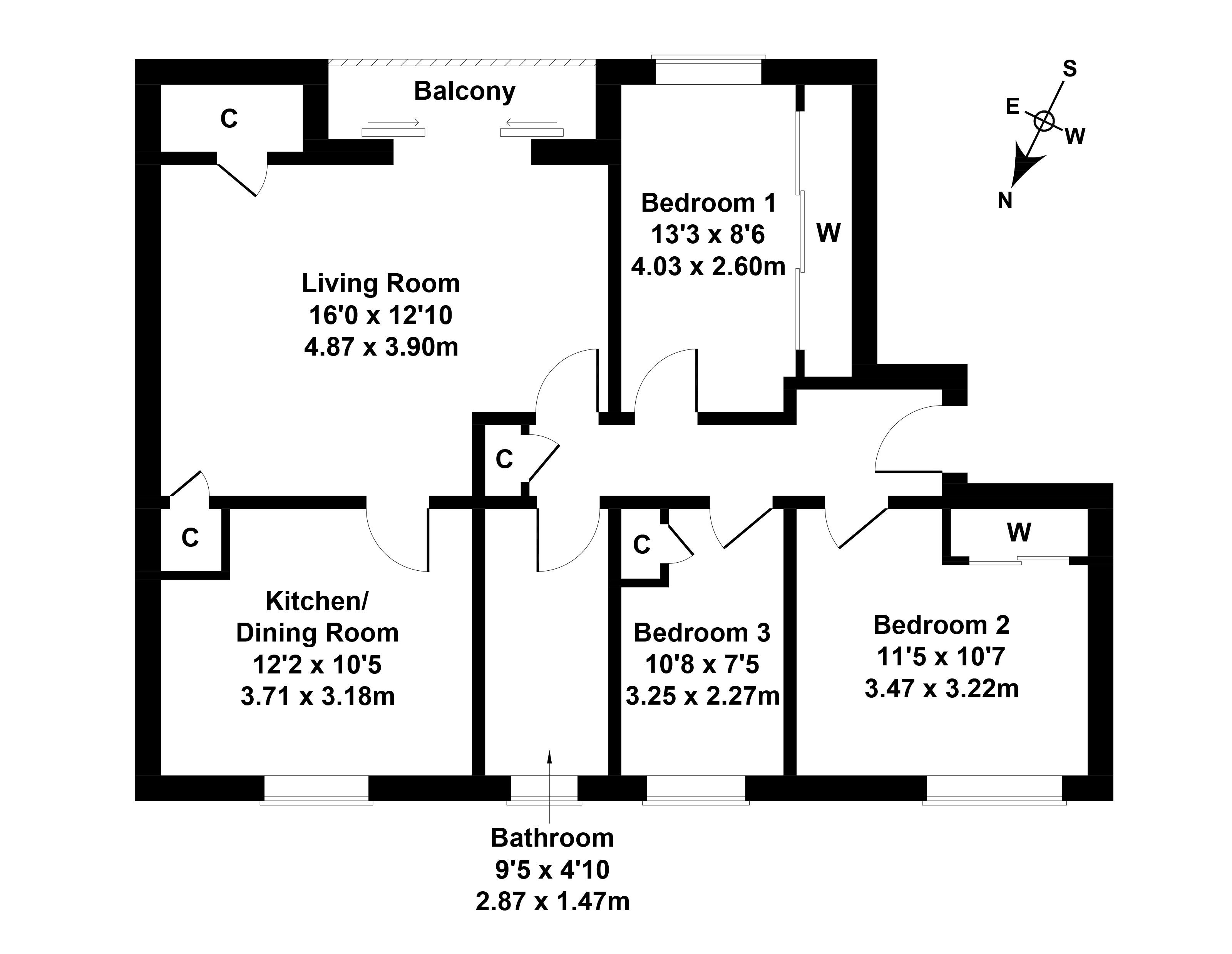 Floorplan 1 of 48/3, Oxgangs Avenue, Oxgangs, Edinburgh, EH13 9JP