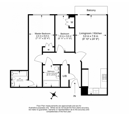 2 bedroom(s) apartment to sale in Eldon House, Aerodrome Road, Beaufort Park, Colindale-Floorplan
