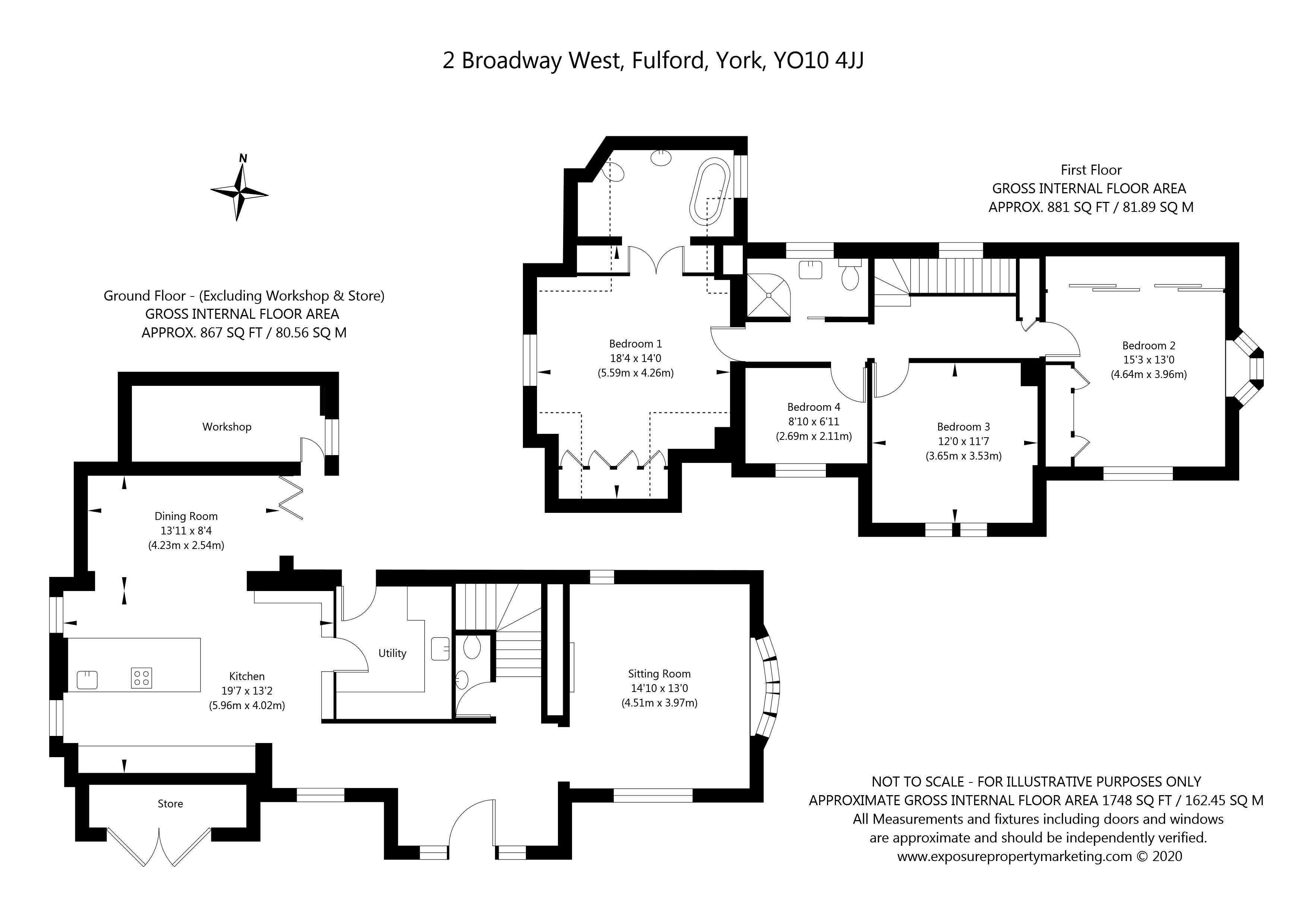 Broadway West, Fulford, York property floorplan
