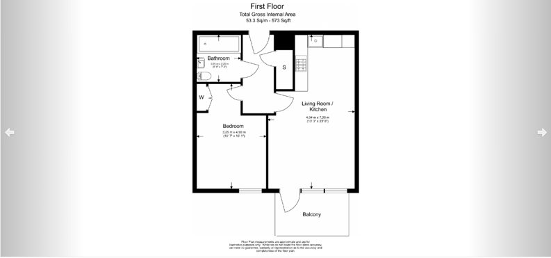 1 bedroom(s) apartment to sale in Aurora Point, 2 Winchester Square , Lewisham-Floorplan