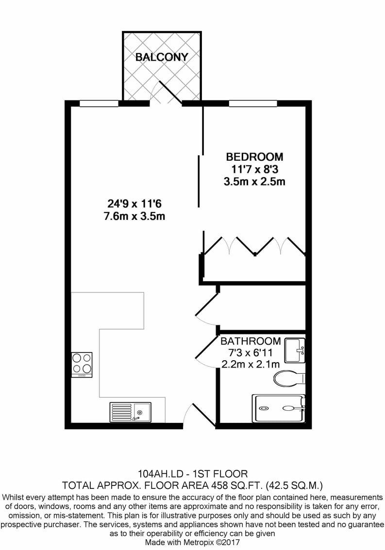 1 bedroom(s) apartment to sale in Ariel House, Vaughan Way, Wapping, London-Floorplan