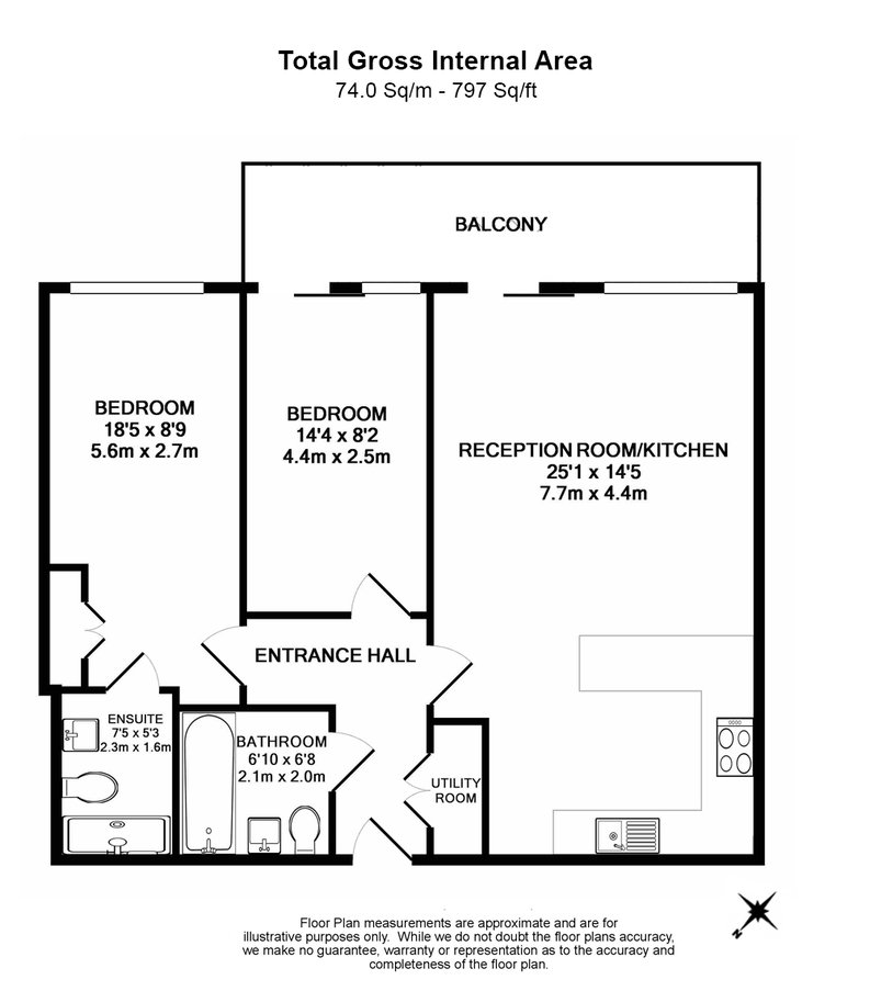 2 bedroom(s) apartment to sale in Cavendish House, Boulevard Drive, Beaufort Park, Colindale-Floorplan