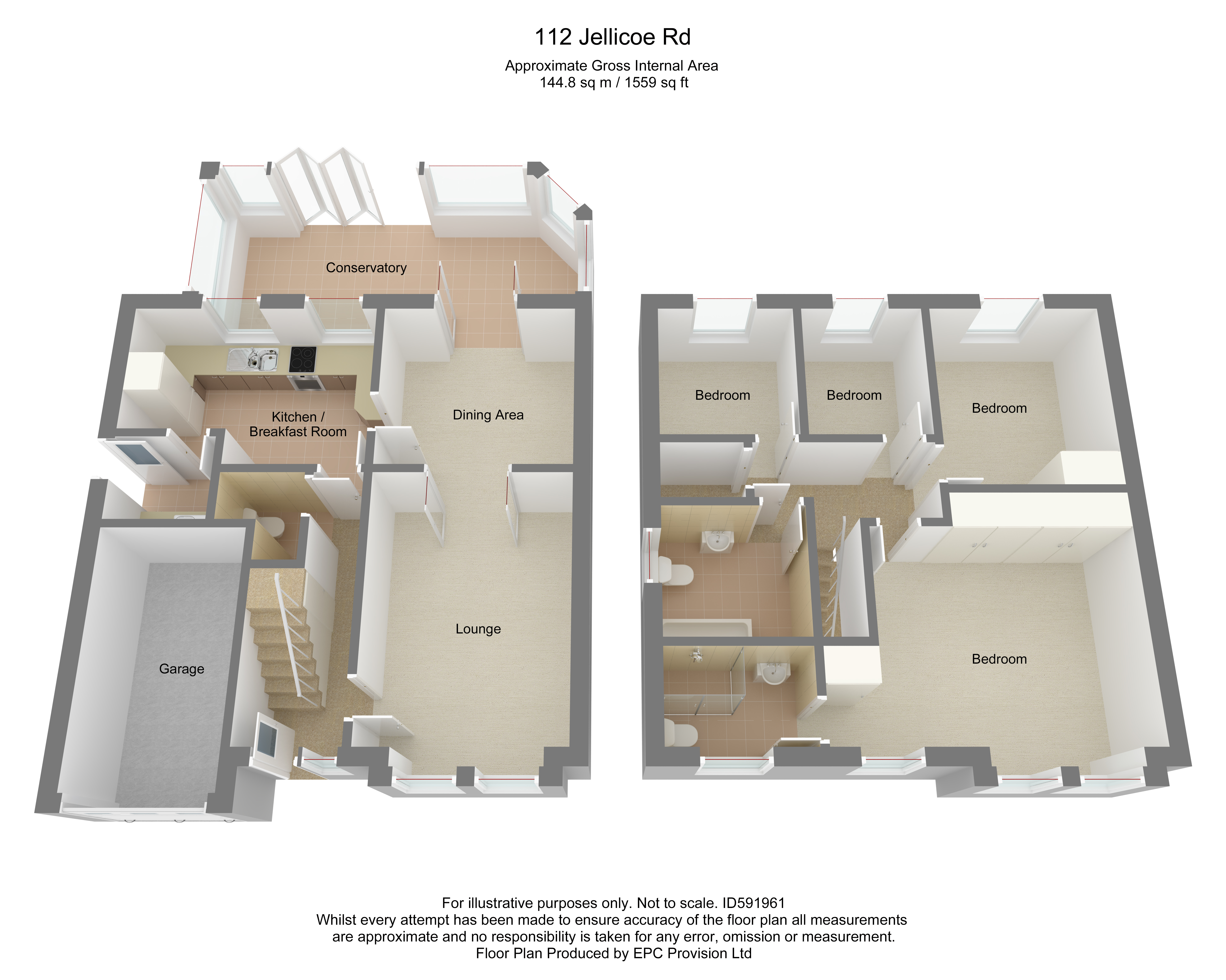 Floorplan for Jellicoe Avenue, Stapleton.