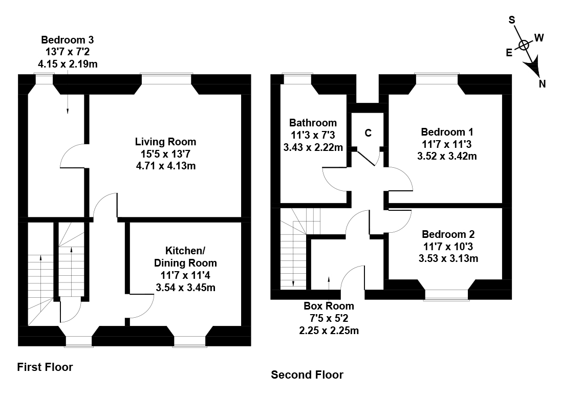 Floorplan 1 of 162 Magdala Terrace, Galashiels, Scottish Borders, TD1 2HZ