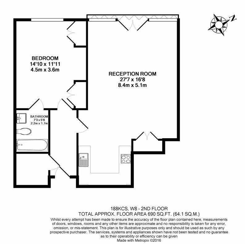 1 bedroom(s) apartment to sale in Kensington Church Street, London-Floorplan