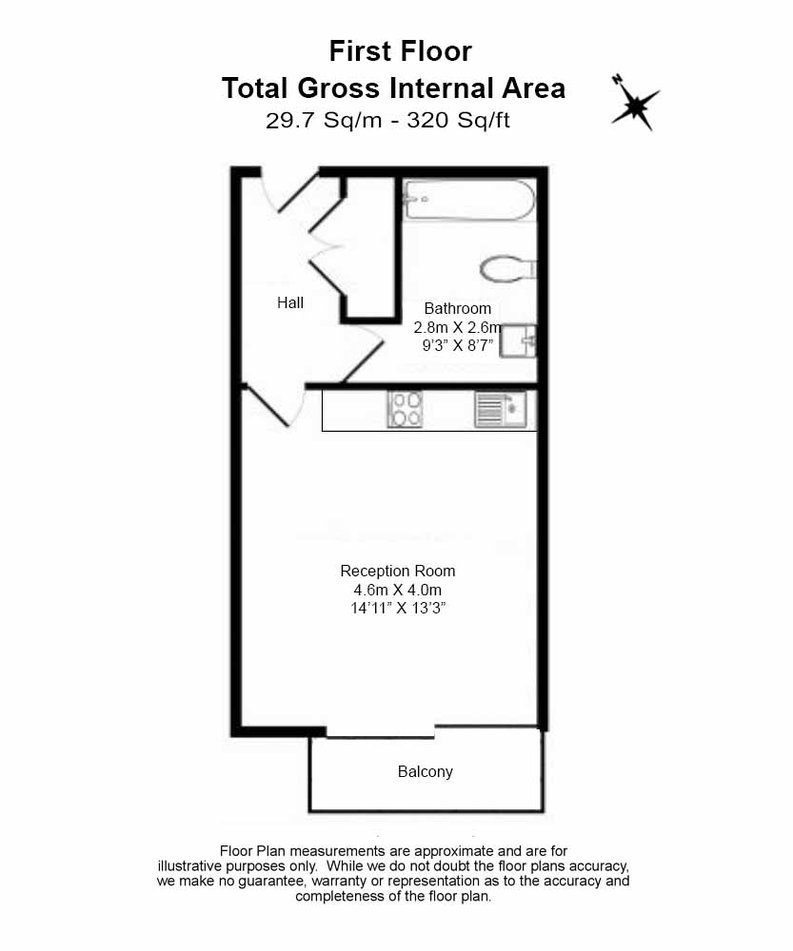 1 bedroom(s) apartment to sale in Caspian Wharf, 1 Yeo Street, Bromley-by- Bow, London-Floorplan