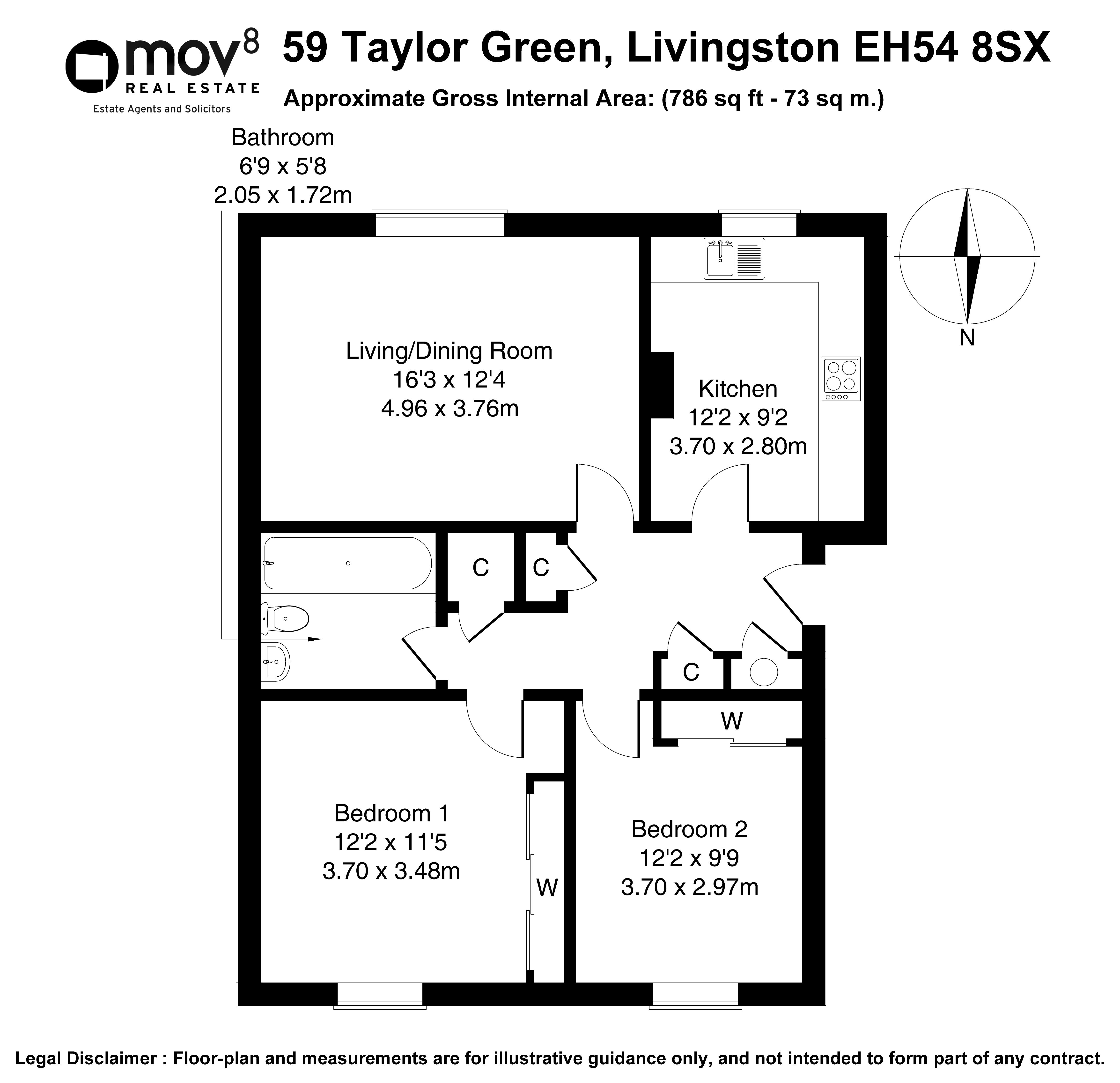 Floorplan 1 of 59 Taylor Green, Livingston, West Lothian, EH54 8SX