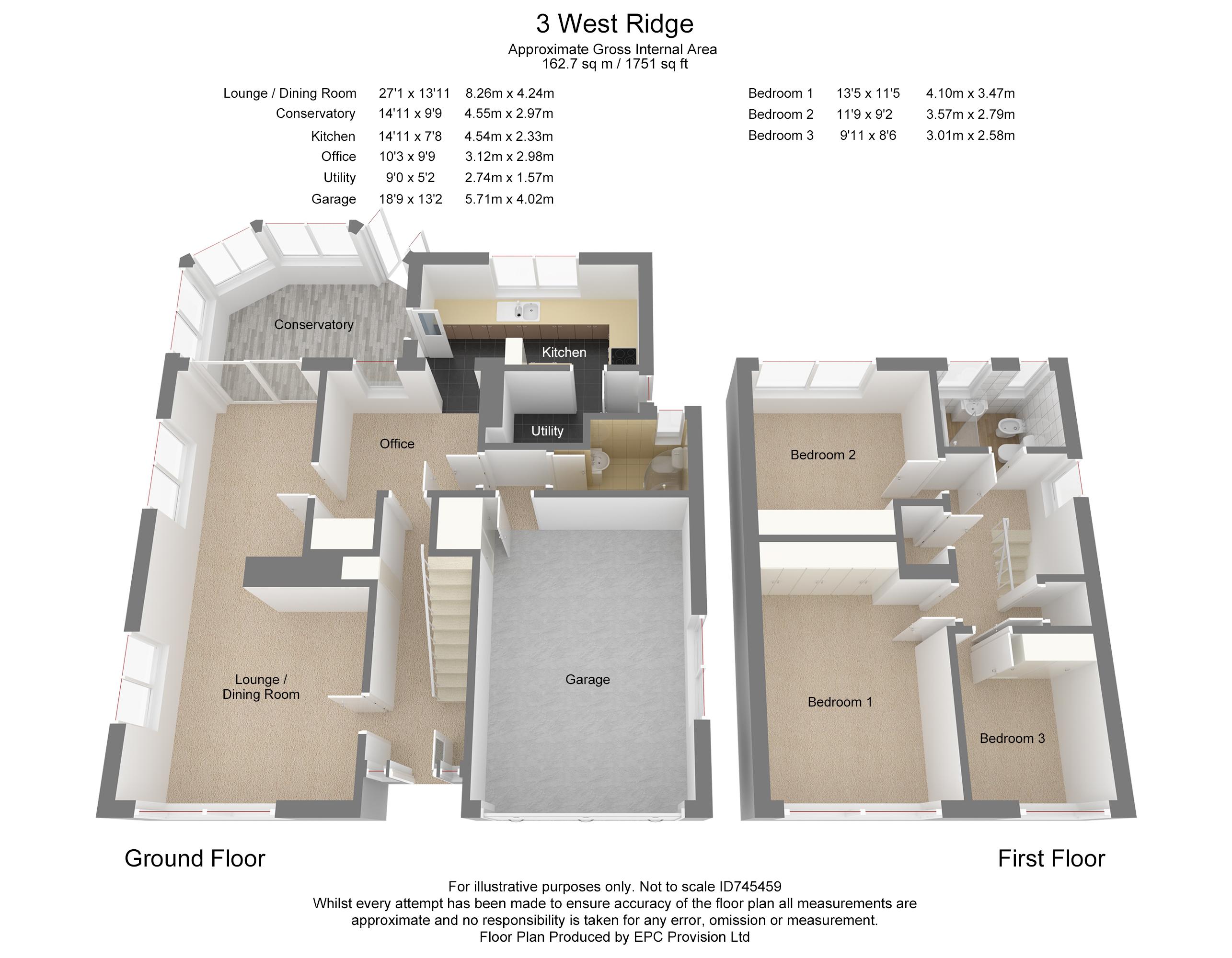 Floorplan for West Ridge, Frampton Cotterell.