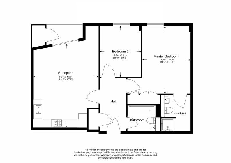 2 bedroom(s) apartment to sale in Westminster Bridge Road, Lambeth, London-Floorplan