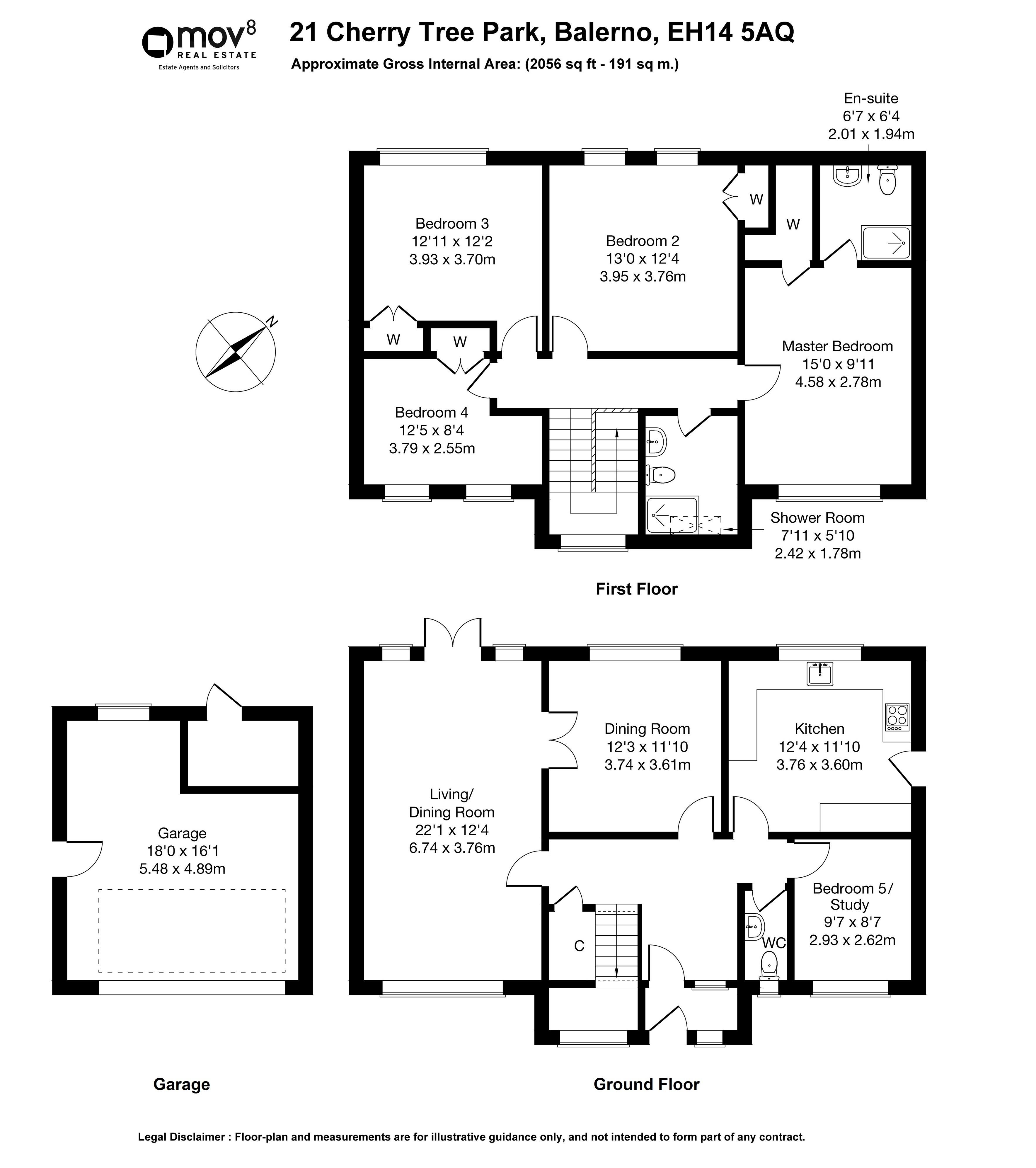 Floorplan 1 of  21 Cherry Tree Park, Balerno, City of Edinburgh, EH14 5AQ