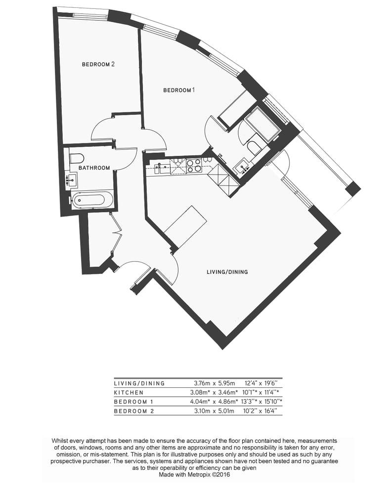 2 bedroom(s) apartment to sale in Lancaster House, Soverigen Court, Hammersmith , London-Floorplan