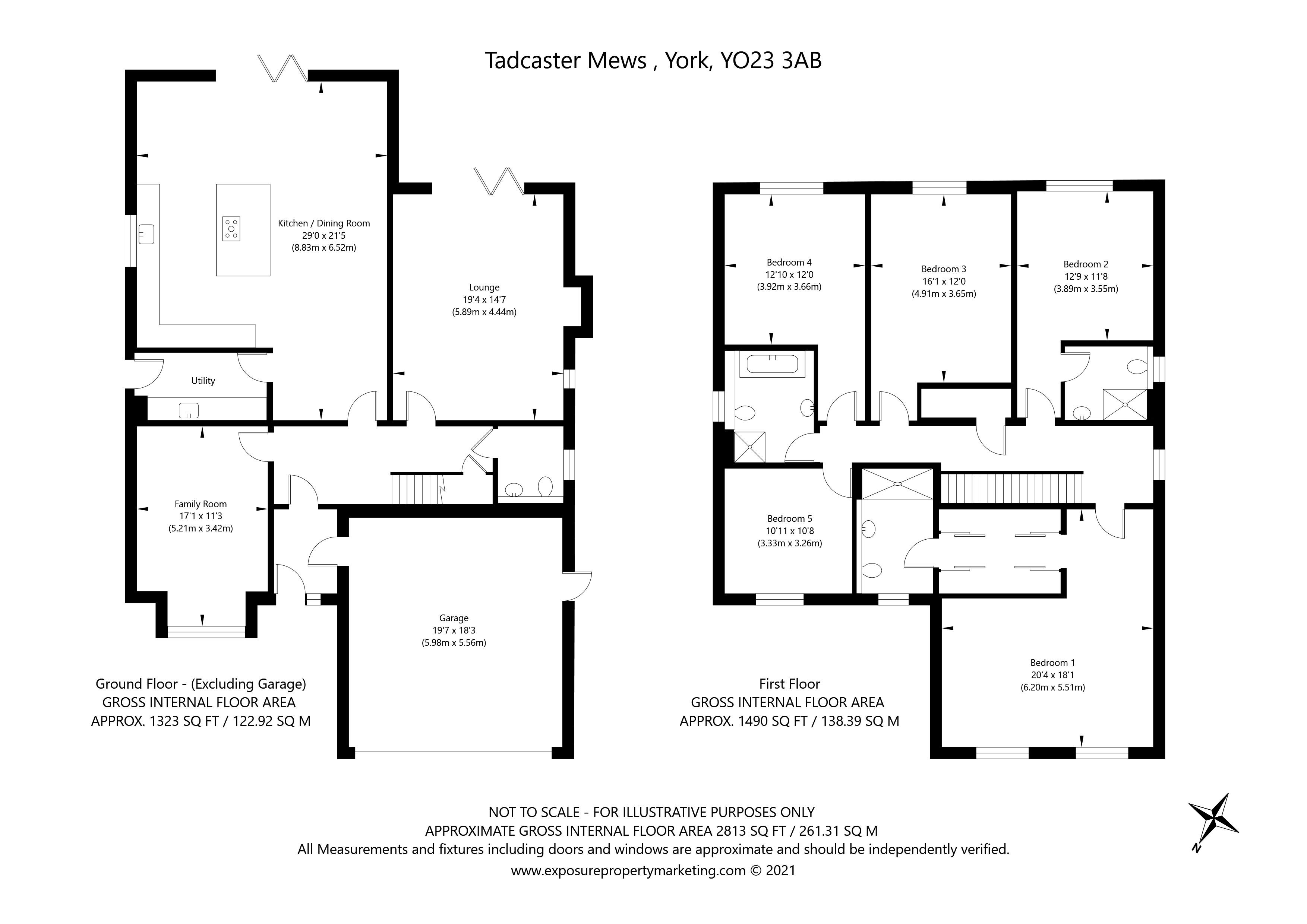 Hallcroft House, Tadcaster Mews, Copmanthorpe, York property floorplan