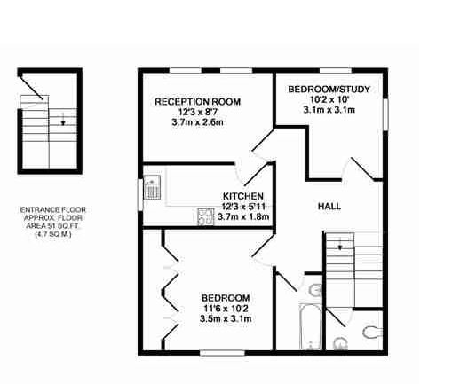 2 bedroom(s) apartment to sale in Crescent Road, Crouch End, London-Floorplan