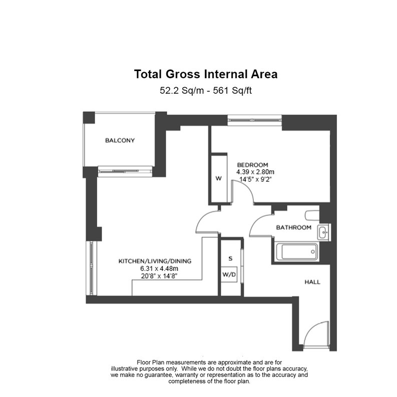 1 bedroom(s) apartment to sale in Reverence House, 8 Lismore Boulevard, Colindale Gardens, Colindale-Floorplan