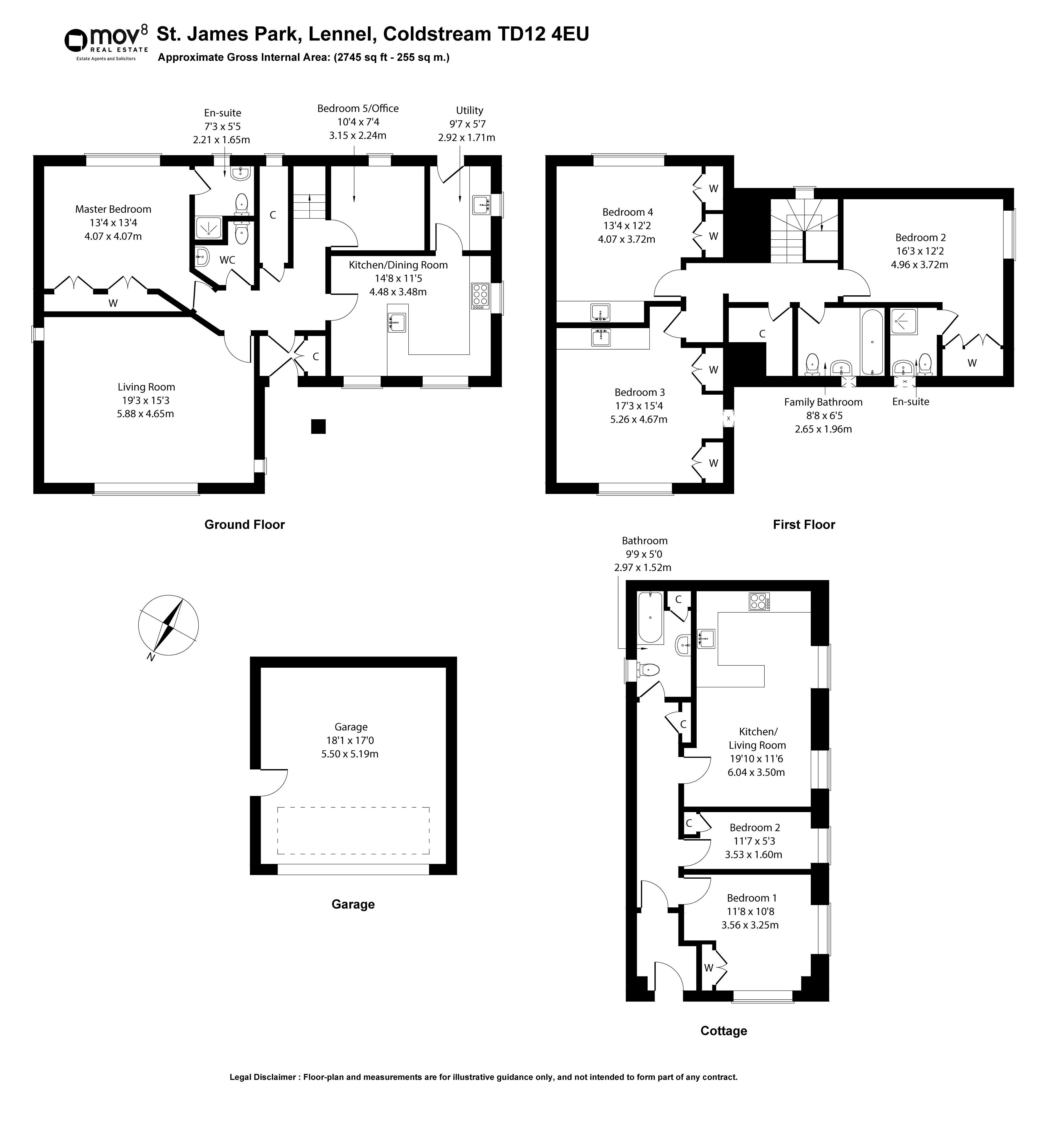 Floorplan 1 of St James Park, Lennel, Coldstream, Scottish Borders, TD12 4EU