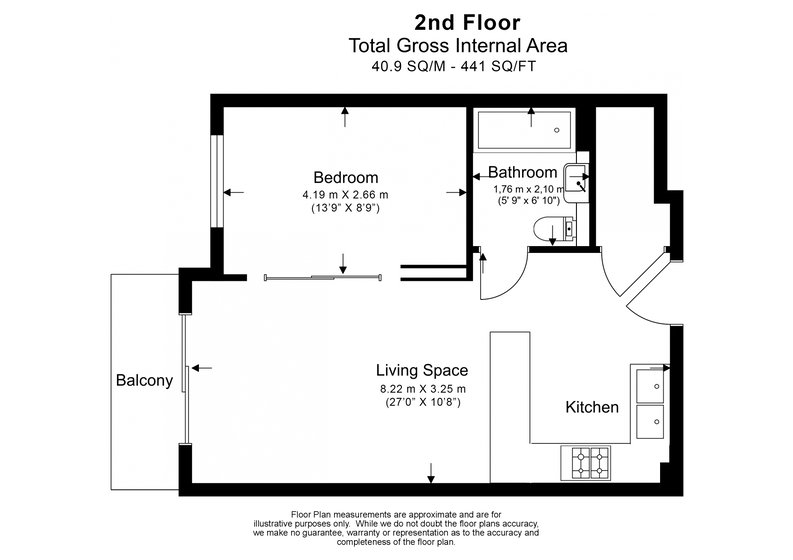 1 bedroom(s) apartment to sale in Constantine House, Boulevard Drive, Beaufort park , London-Floorplan
