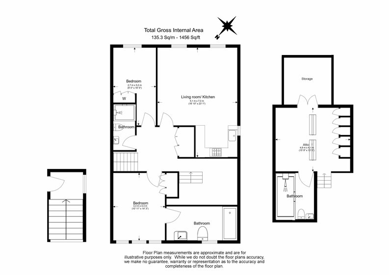 3 bedroom(s) apartment to sale in Greville Road, St. John's Wood Borders, London-Floorplan