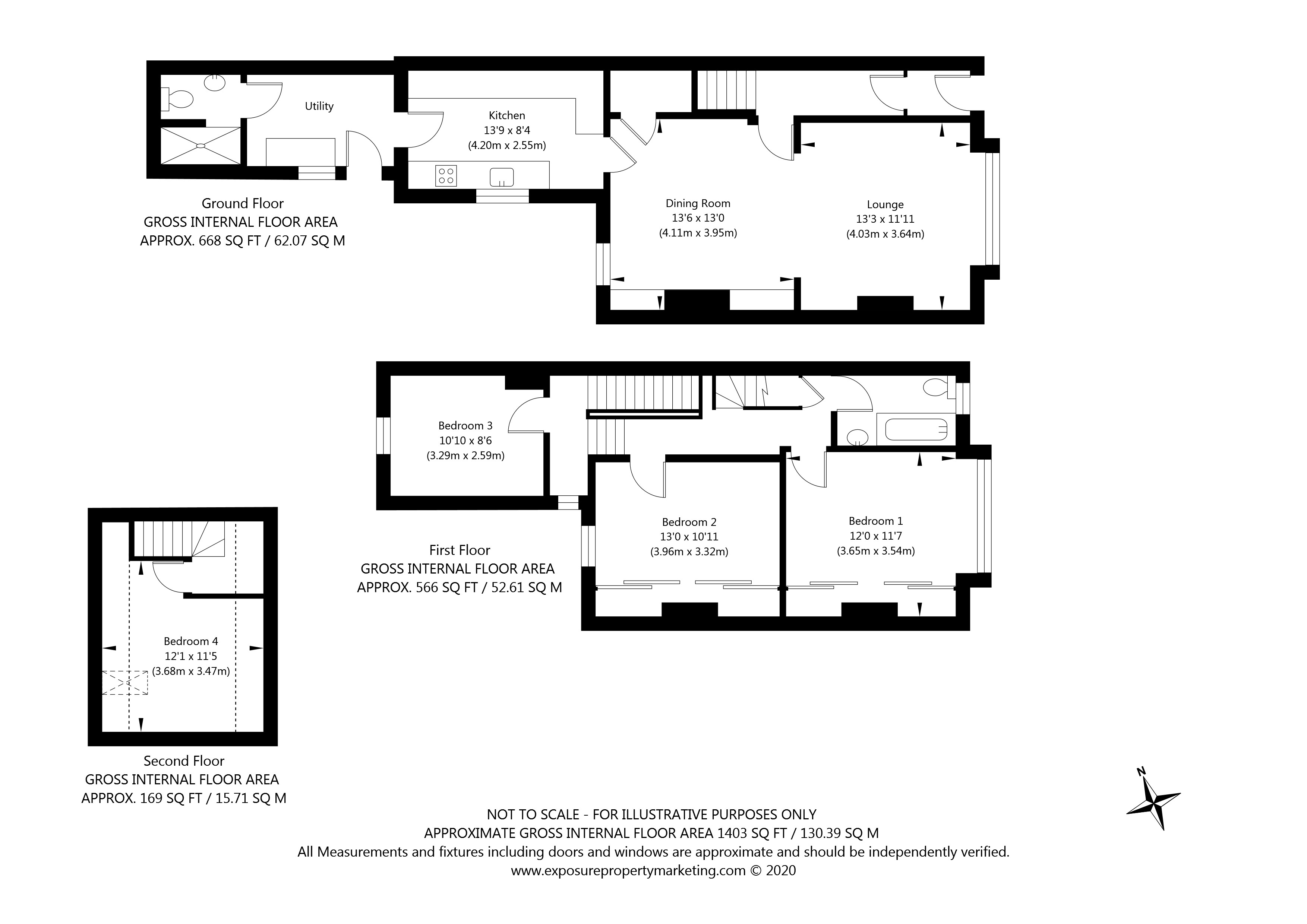 Marygate, York property floorplan