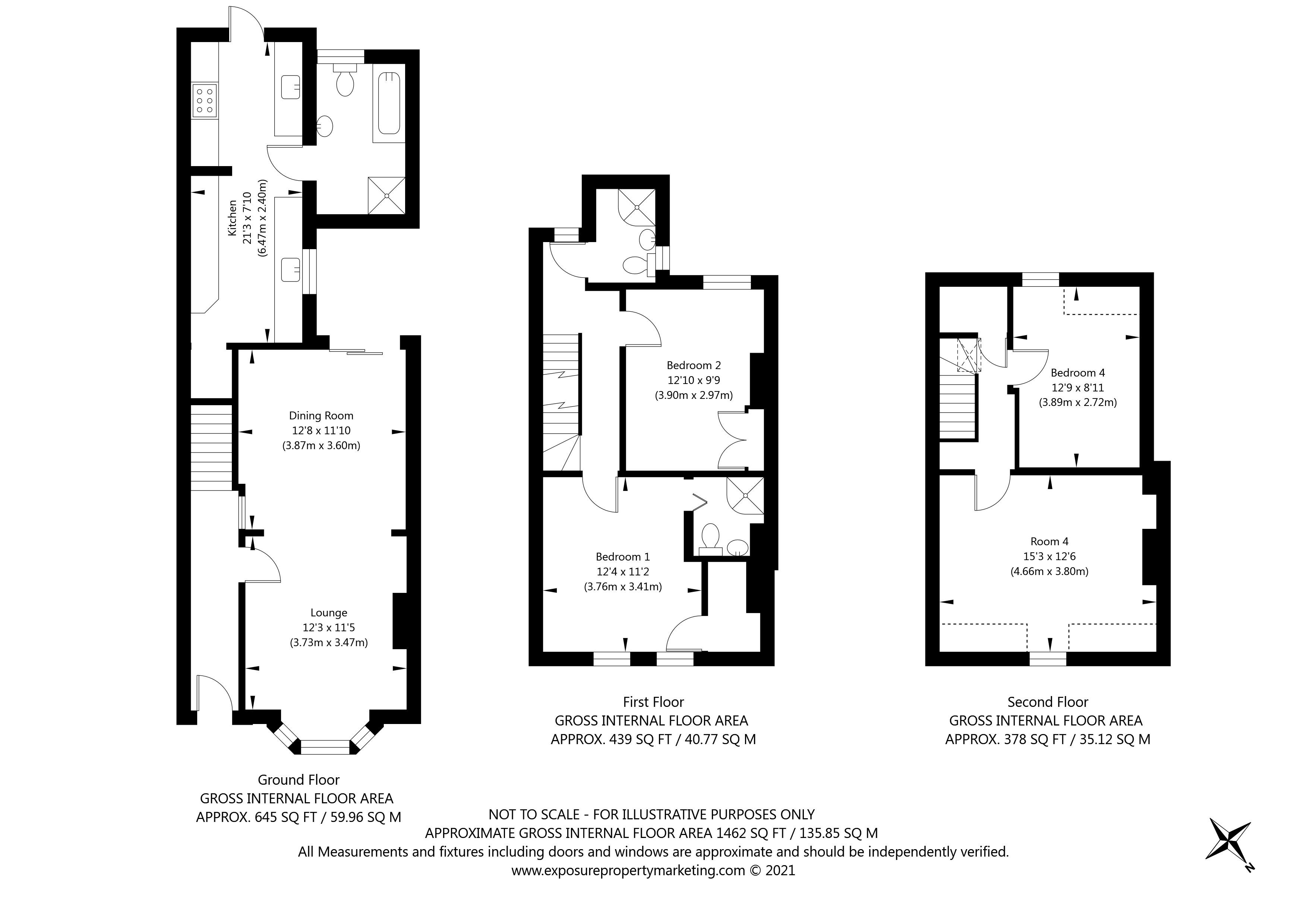 Claremont Terrace, York property floorplan
