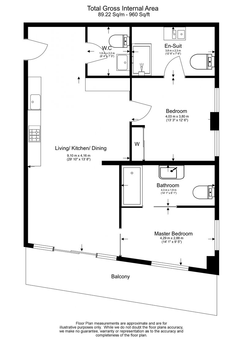2 bedroom(s) apartment to sale in 10 Park Drive, Canary Wharf-Floorplan