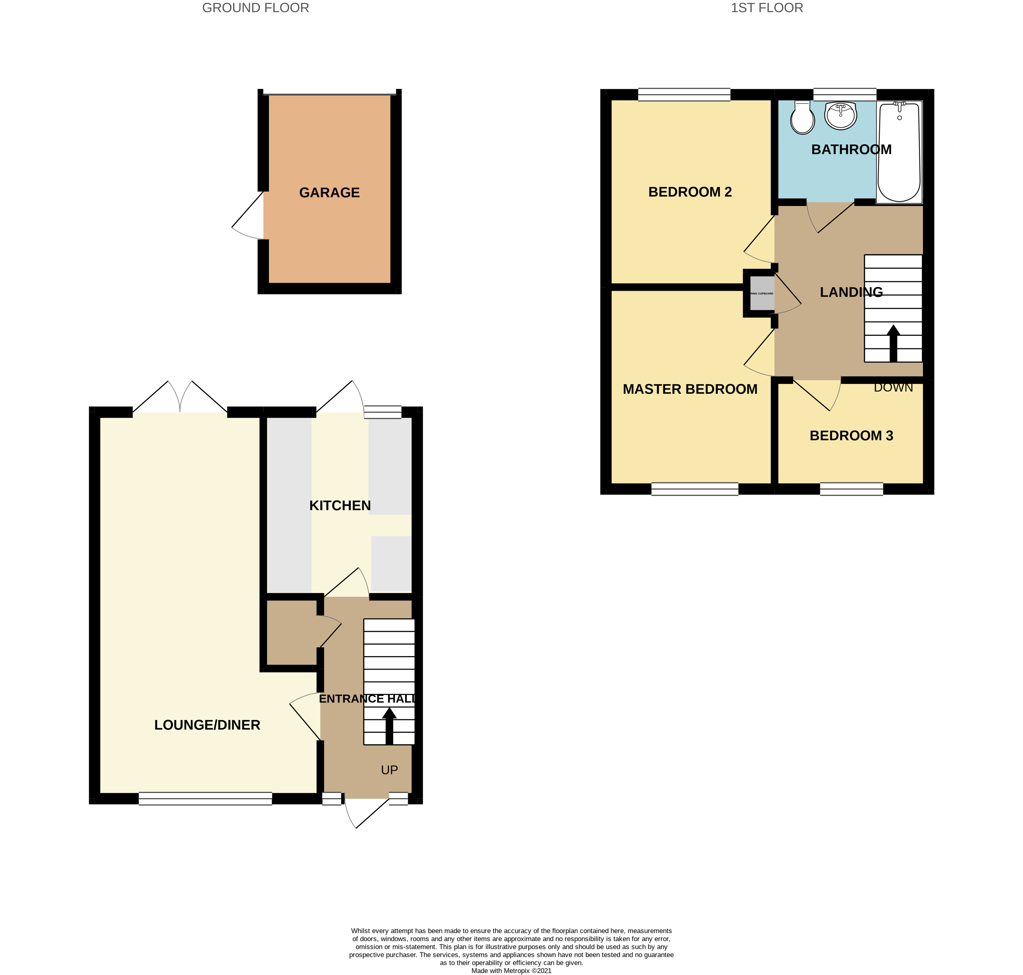 Floorplan for Prescott, Yate.