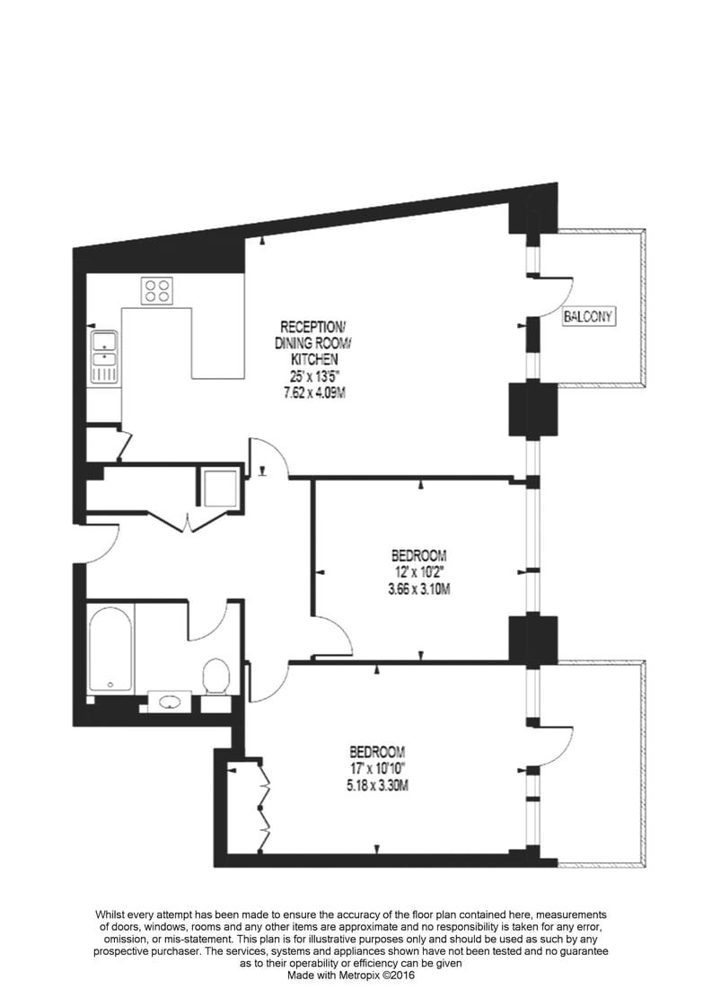 2 bedroom(s) apartment to sale in Vaughan Way, St Katherine's & Wapping, London-Floorplan