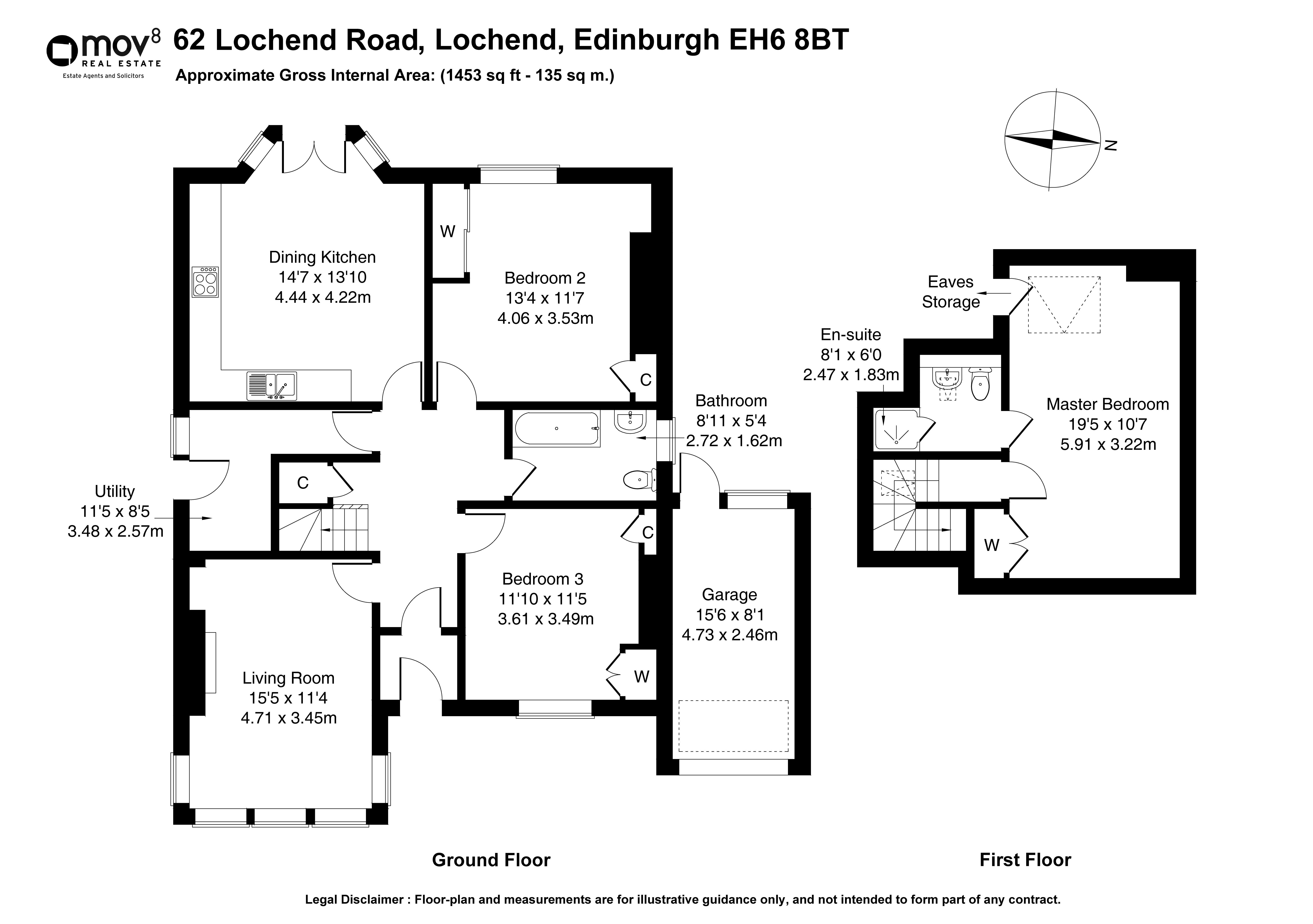 Floorplan 1 of 62 Lochend Road, Lochend, Edinburgh, EH6 8BT