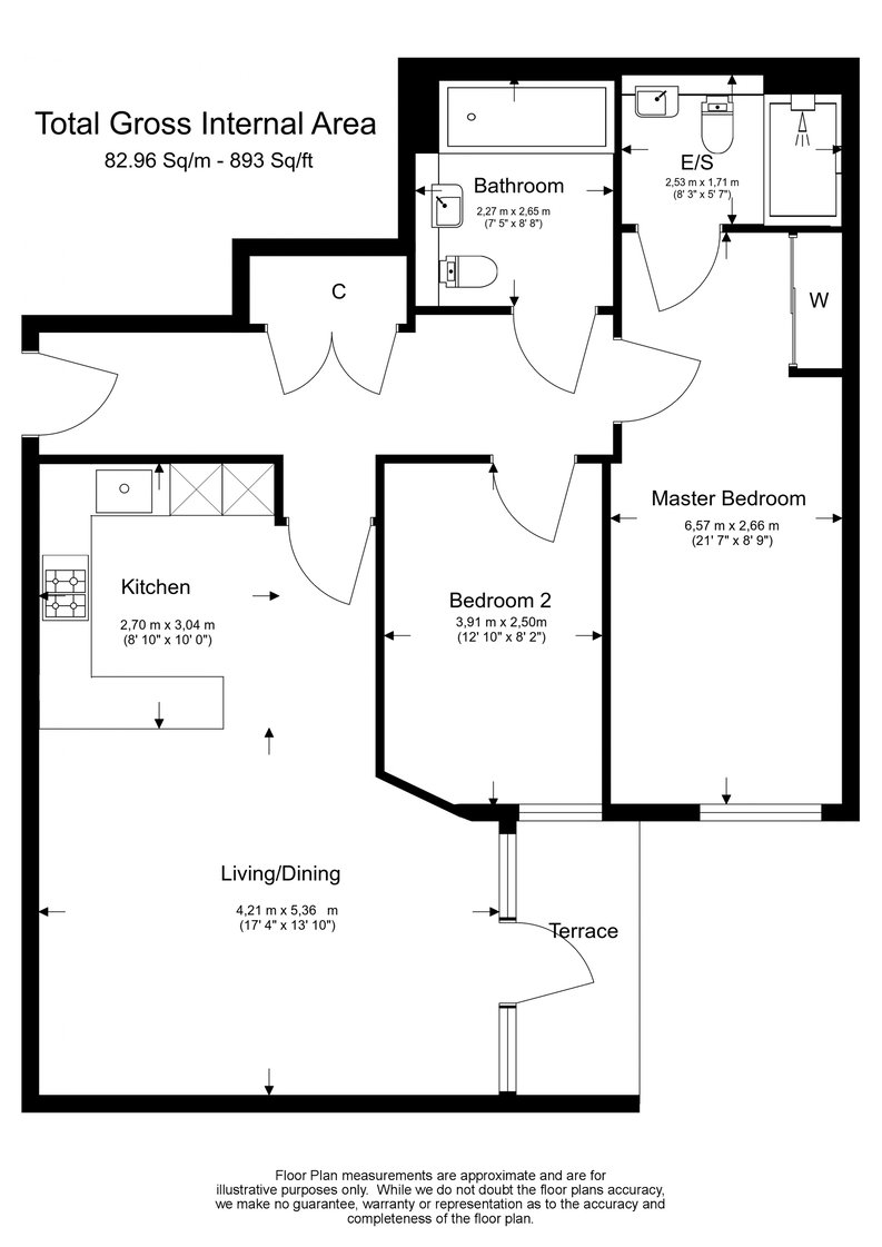 2 bedroom(s) apartment to sale in Dashwood House, Dickens Yard, Longfield Avenue, Ealing, London-Floorplan
