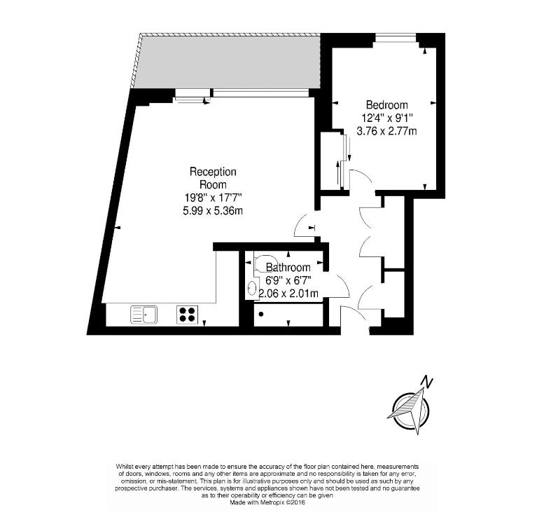 1 bedroom(s) apartment to sale in Waterside Apartments, Goodchild Road, London-Floorplan