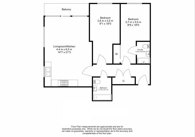 2 bedroom(s) apartment to sale in Lismore Boulevard, London-Floorplan