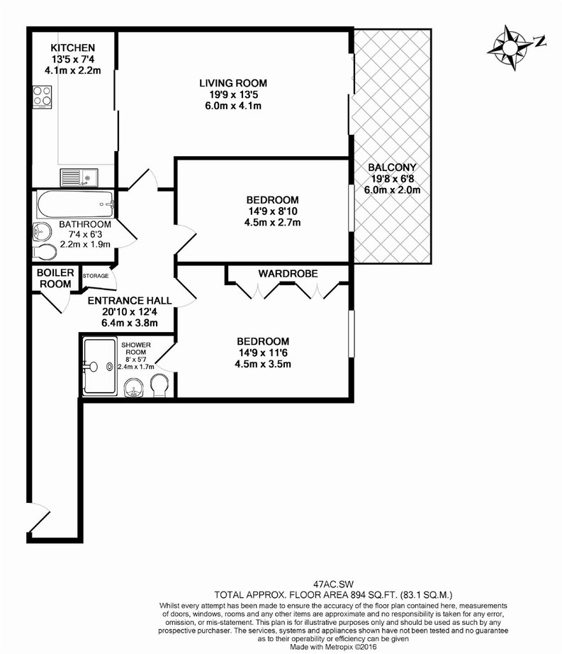 2 bedroom(s) apartment to sale in Aspect Court, Imperial Wharf, London-Floorplan