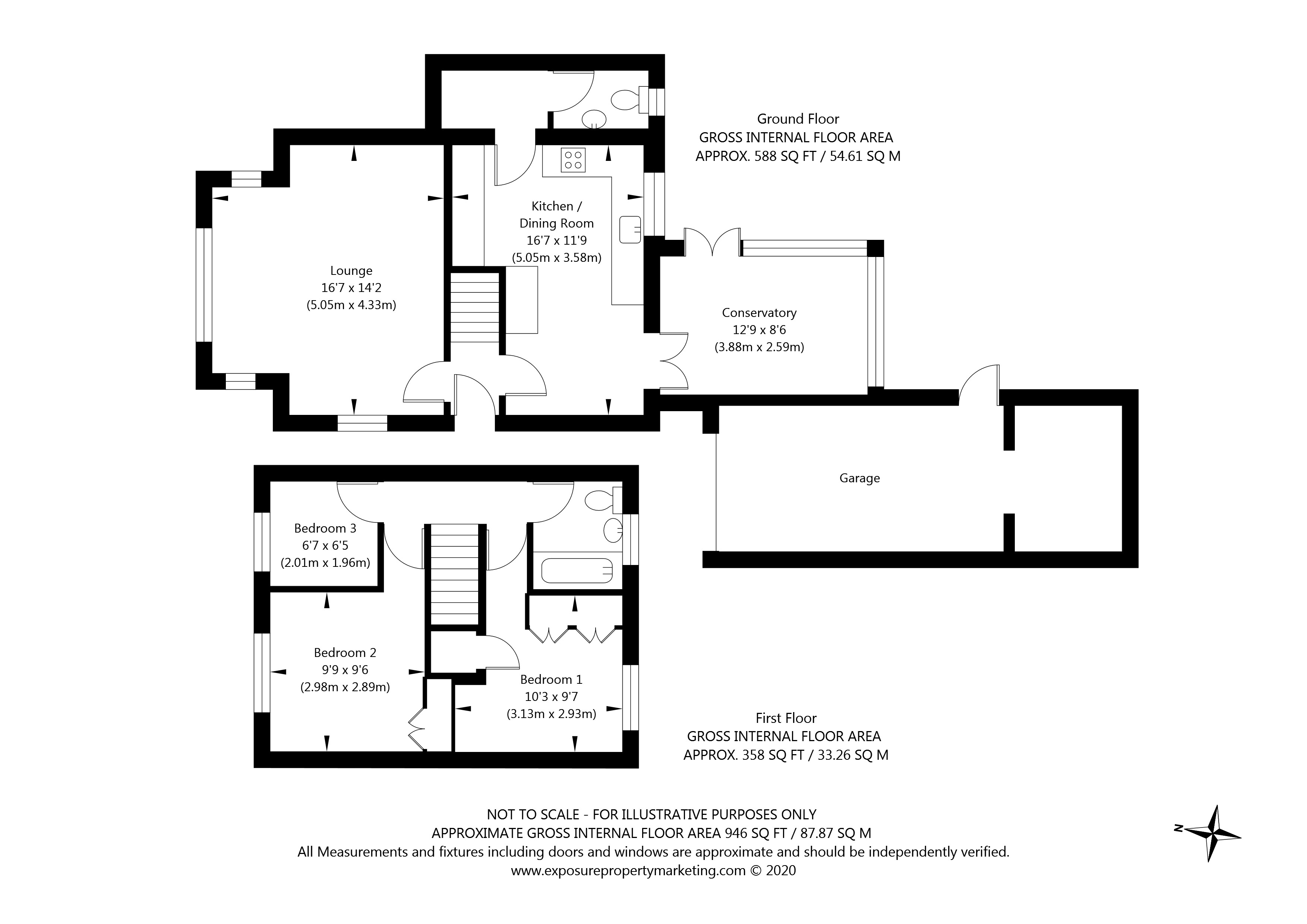 Kelfield Road, Riccall, York property floorplan