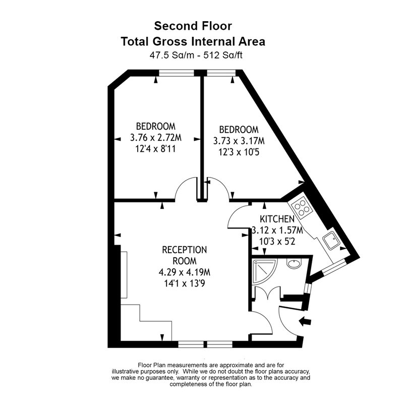2 bedroom(s) apartment to sale in Mall Chambers, Kensington Mall, Notting Hill-Floorplan