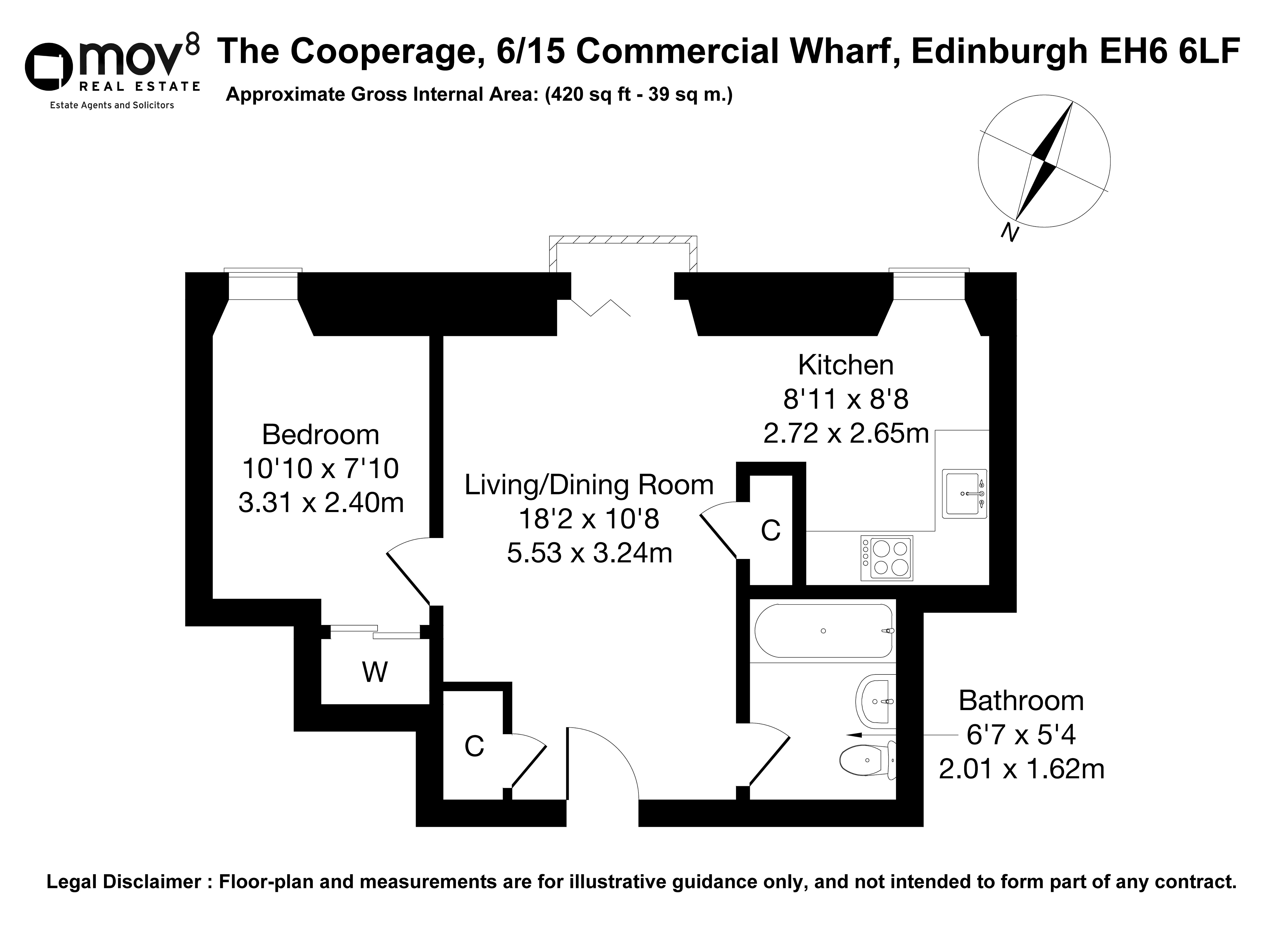 Floorplan 1 of 6/15 The Cooperage, Commercial Wharf, The Shore, Edinburgh, EH6 6LF