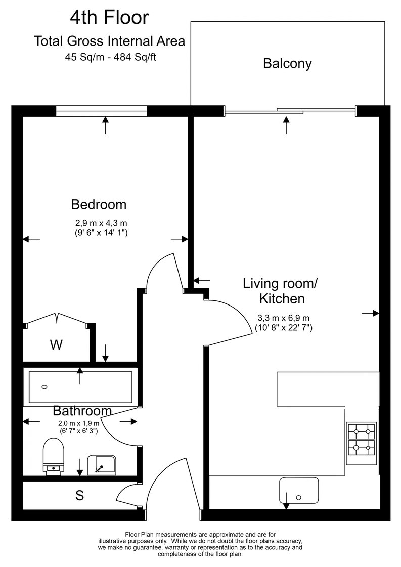 1 bedroom(s) apartment to sale in Cavendish House, Boulevard Drive, Beaufort Park, Colindale-Floorplan