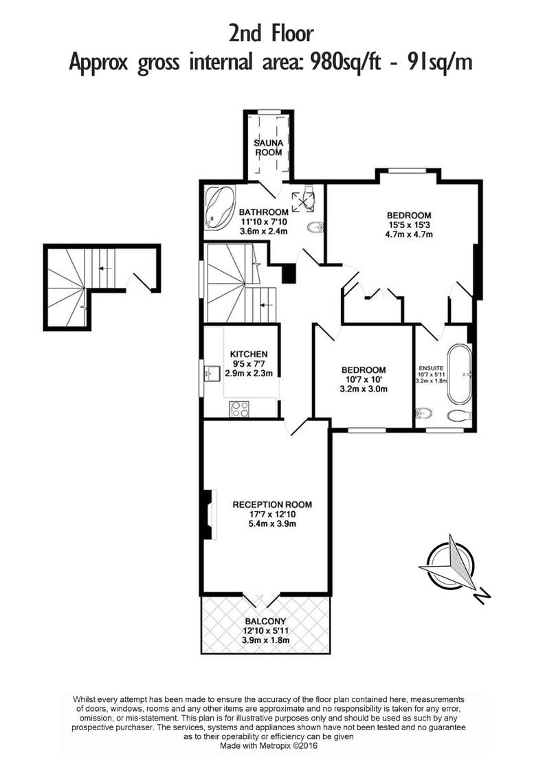 2 bedroom(s) apartment to sale in Hollycroft Avenue, Hampstead, London-Floorplan