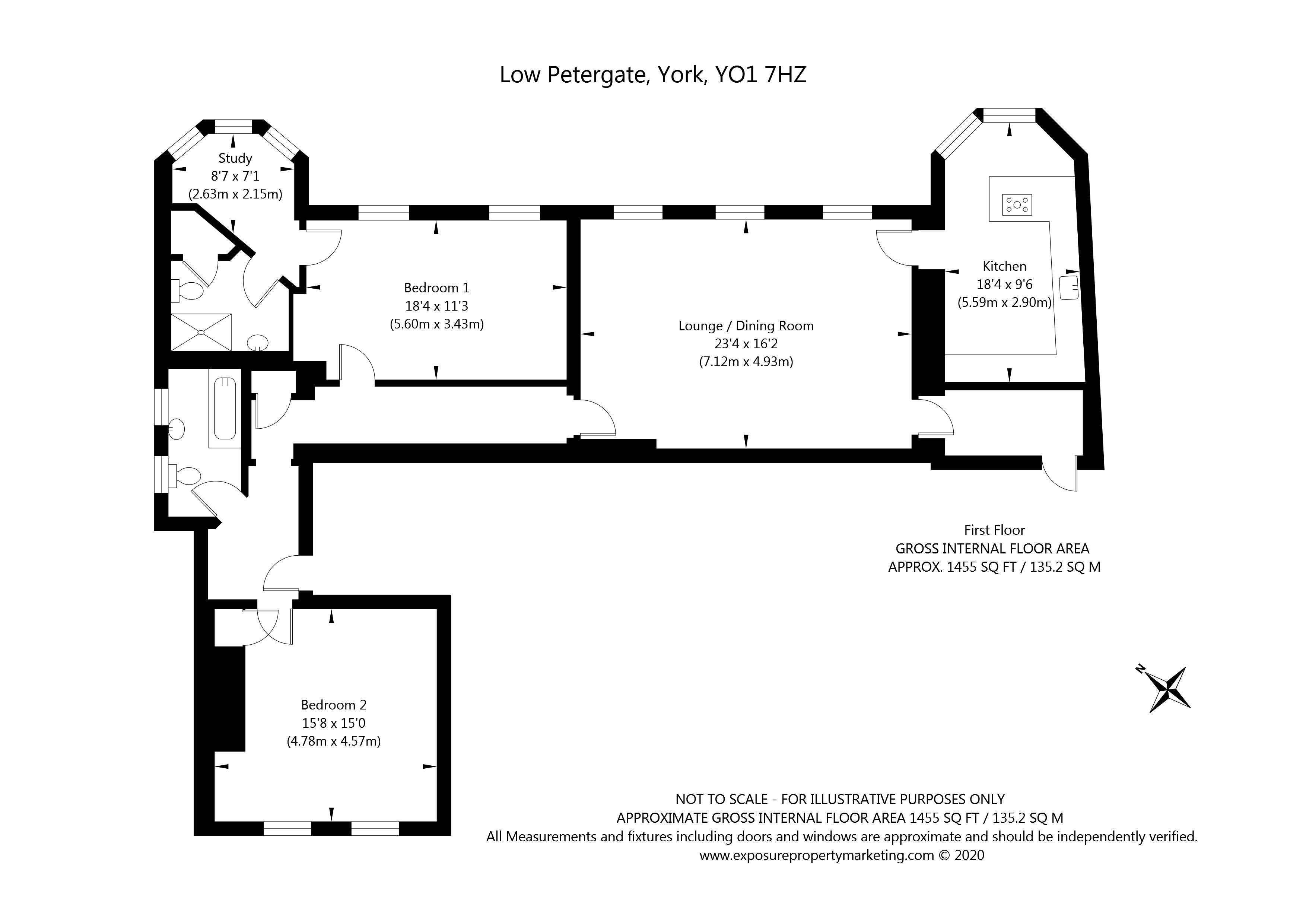 Low Petergate, York property floorplan