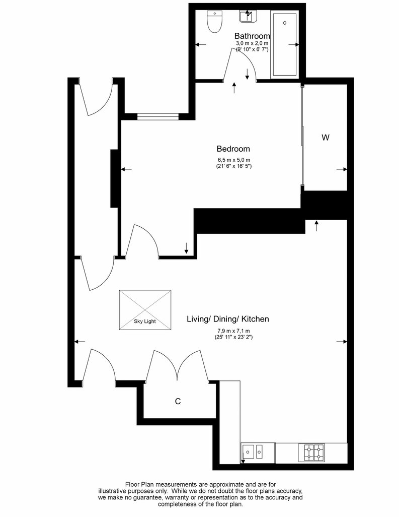1 bedroom(s) apartment to sale in Gore House, Drummond Way, Islington, London-Floorplan
