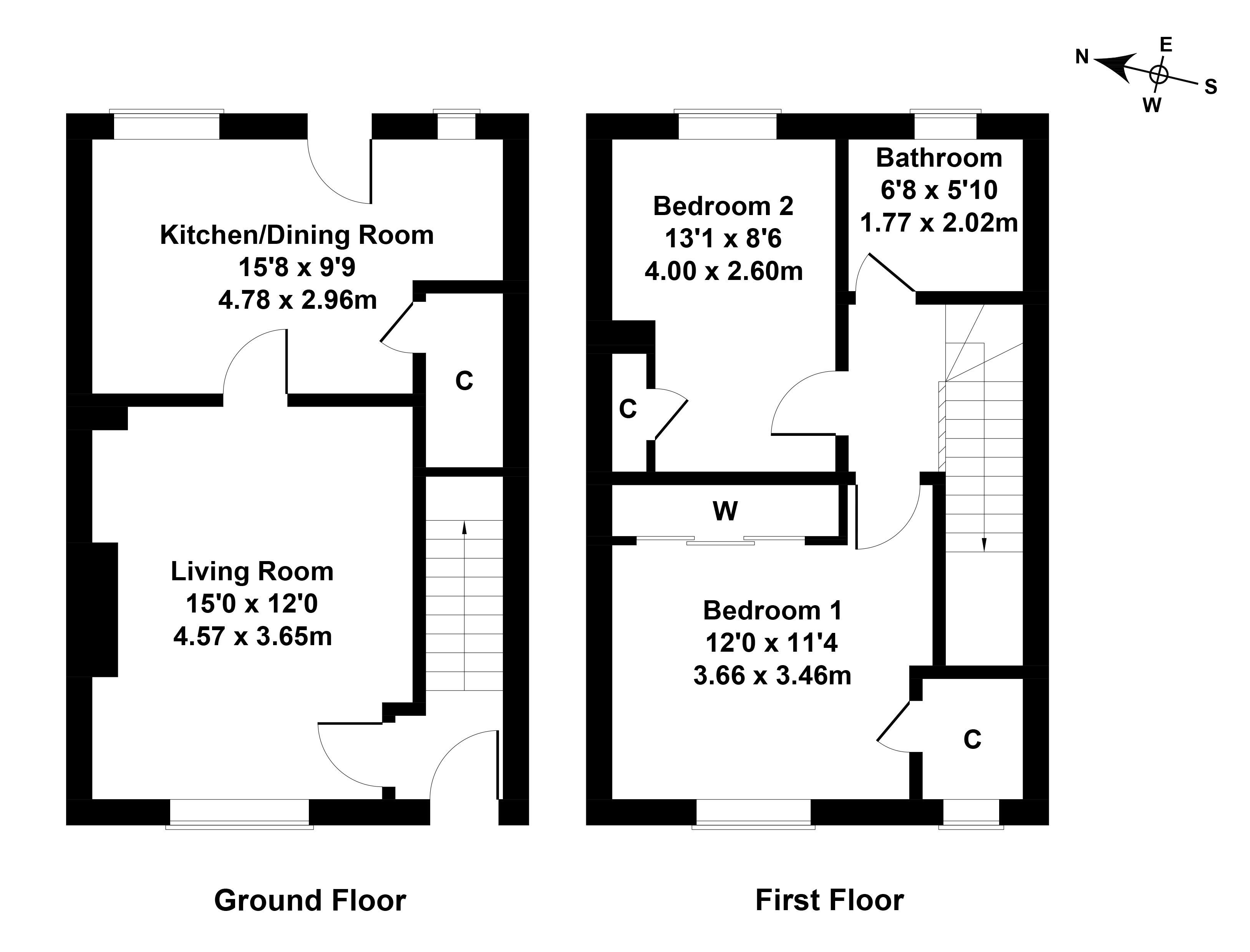 Floorplan 1 of 57 Whitecraig Crescent, Whitecraig, Musselburgh, East Lothian, EH21 8NQ