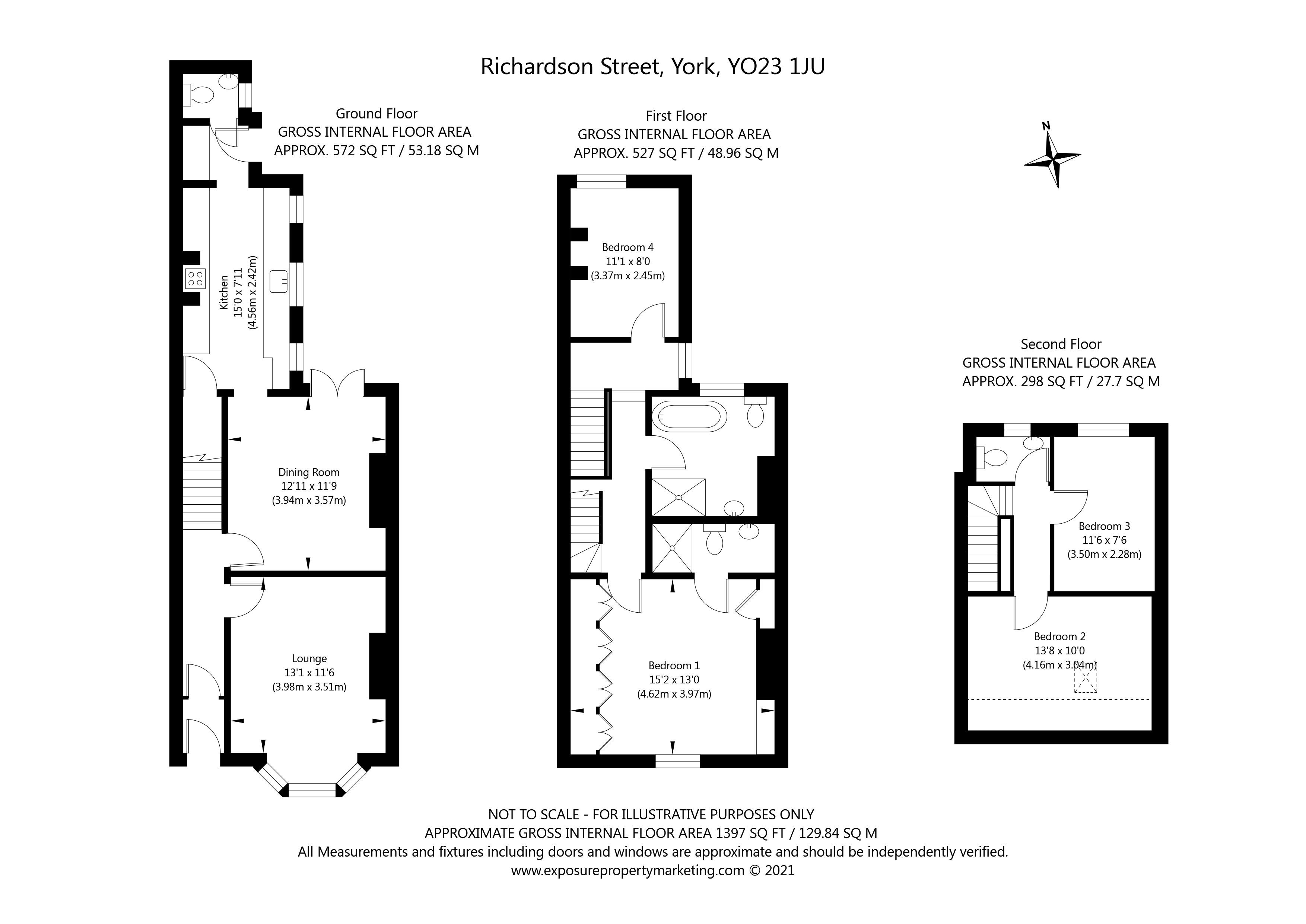Richardson Street, Bishopthorpe Road , York property floorplan