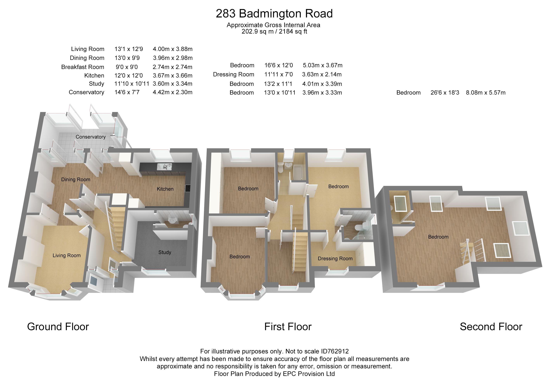 Floorplan for Badminton Road, Frampton Cotterell.