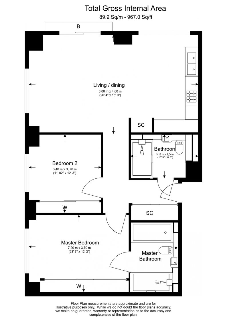 2 bedroom(s) to sale in One Casson Square, Southbank Place, Waterloo-Floorplan
