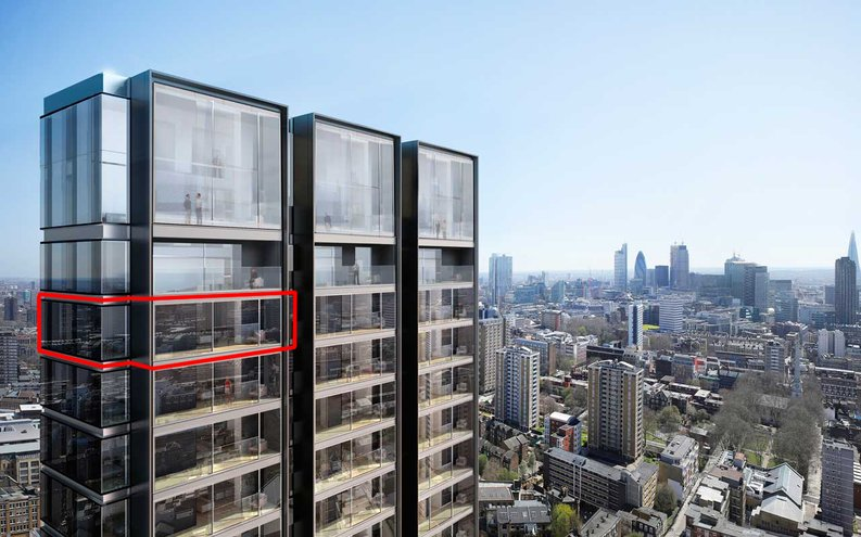 2 bedroom(s) to sale in Carrara Tower, 250 City Road, Islington, London-image 1
