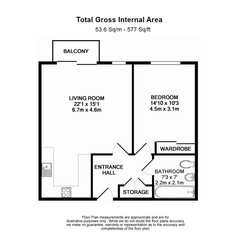 1 bedroom(s) apartment to sale in Braham Court, Blagrove Road, Greater London, Teddington-Floorplan