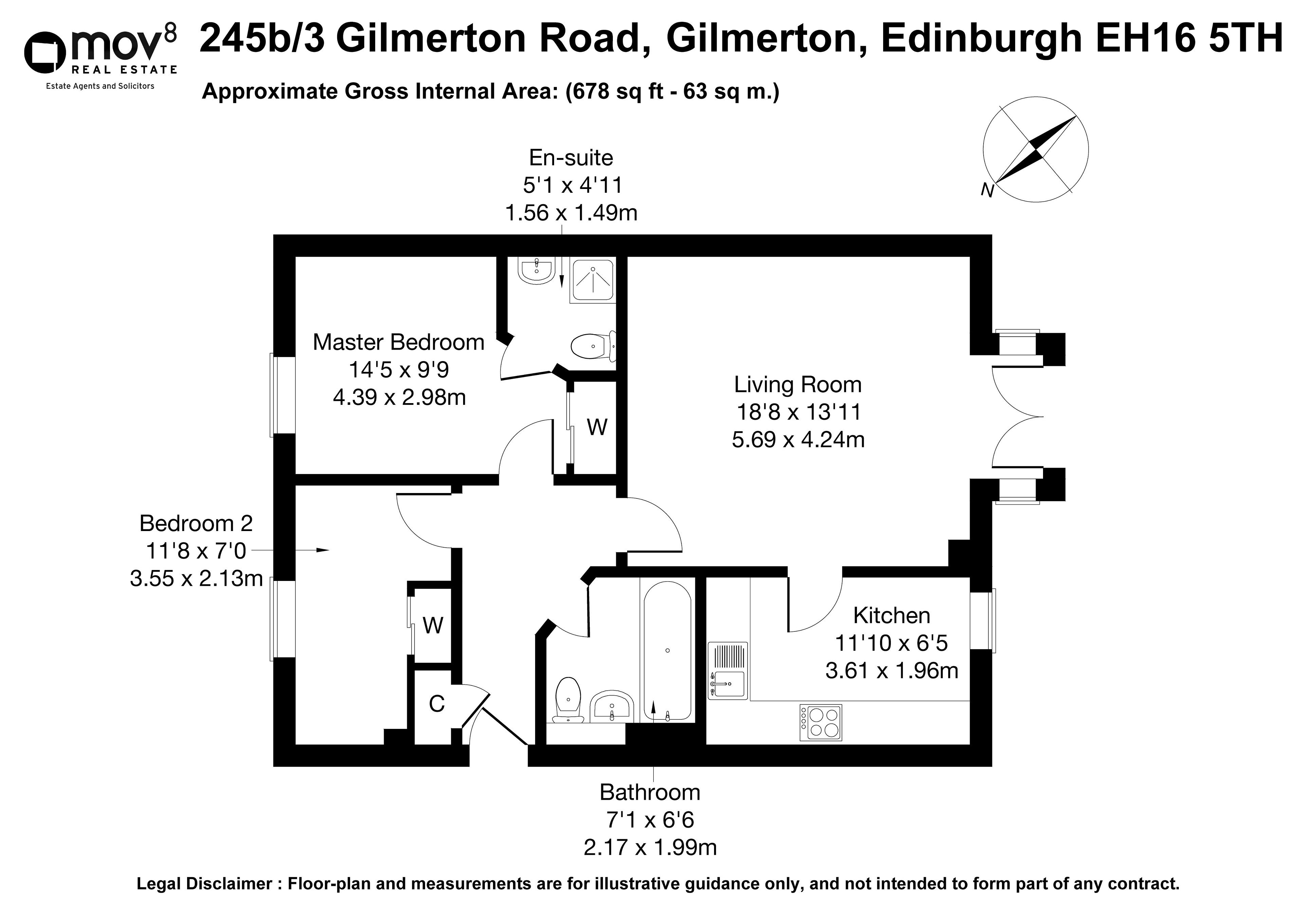 Floorplan 1 of 245b/3, Gilmerton Road, Gilmerton, Edinburgh, EH16 5TH